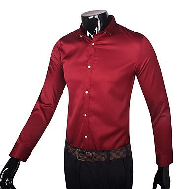 Men's Fashion Slim Simple Long Sleeve Shirts(More Colors)