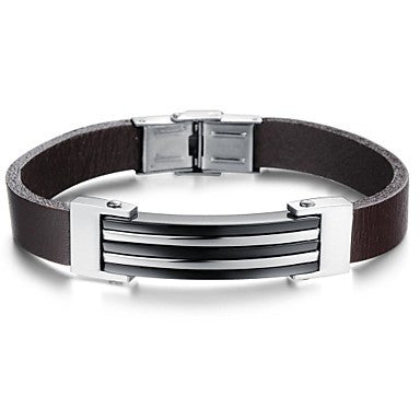 Retro Men's Charm Stainless Steel Fashionable Bible Bracelet (1 Pc)