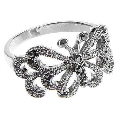European Diamate Butterfly Statement Rings(1 Pc)