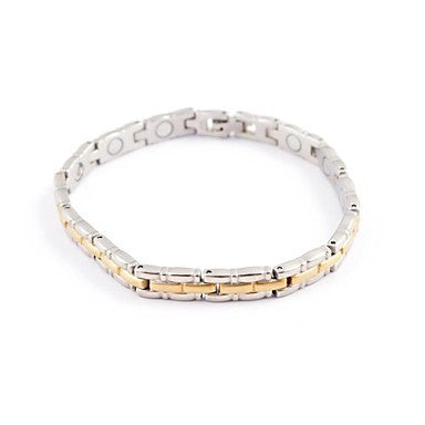 Fashion Men's Bamboo Health Magnet Titanium Steel Tennis Bracelet