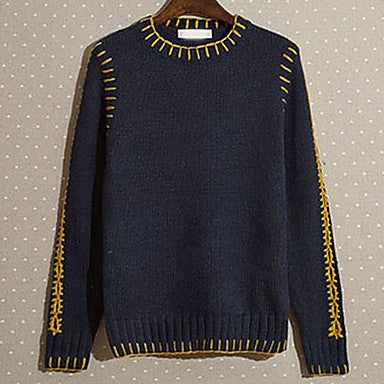 Men's New Japanese Retro Casual Knit Sweater's Color Sweater