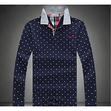 Men's Casual Fashion Lapel Long Sleeve Polo Shirt