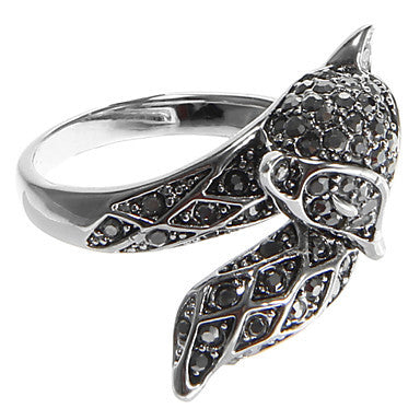 European Diamate Fox Statement Rings(1 Pc)