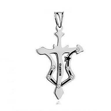 Fashion Stainless Steel Scorpio Pendant Necklace