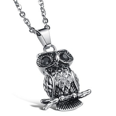 Cool Fashion Personality Owl Pendant Necklace Fashion Men Sell Like Hot Cakes