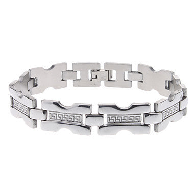 Great Wall Pattern Stainless Steel Bracelet