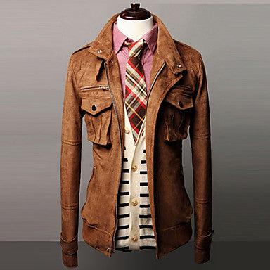 Men's Stylish Slim Pocket Coat