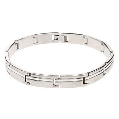 Oblong Wiredrawing Stainless Steel Bracelet