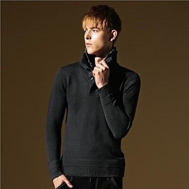 Men's Fashion Style Casual Slim Fit Long Sleeve Sweater Knitwear
