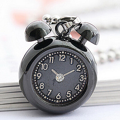 Fashion Little Alarm Clock Shape Blue Titanium Steel Pendants(Blue) (1 Pc)
