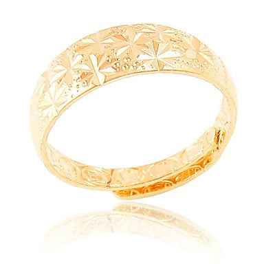 Classic Motifs Carved Imitation Gold Rings(Hualuo Jewelry)