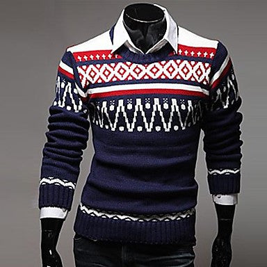 Men's Printing Trend Hedging Sweater