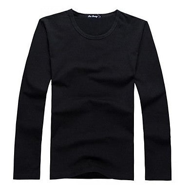 Men's New Casual Long Sleeve O-neck Shirts