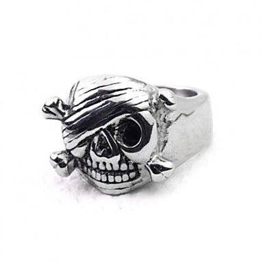 European Style Mummy Titanium Steel Men's Statement Ring