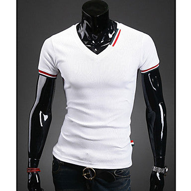 Men's Trendy V-Neck Slim Short Sleeve T-Shirt