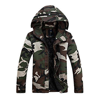Men's Fashion Slim Camouflage Hooded Coat