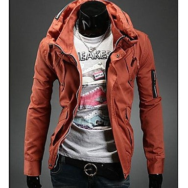 Men's Korean Style Slim Double Led Casual Jacket