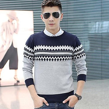 Men's Fashion Round Neck Sweater Korean Version Of Sweater