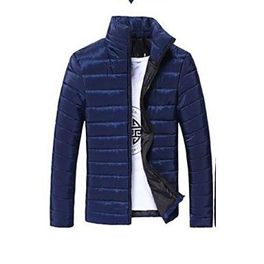 Men's Stand Collar Down Jacket Slim Fit Feather Dress Warm Fleece Thickening Overcoat