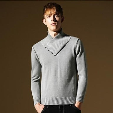 Men's New Britsh Style Fashion Warm Cotton Slim-fit Casual Knitwear Sweater