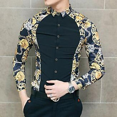 Men's Broken Stitching Sleeve Shirt