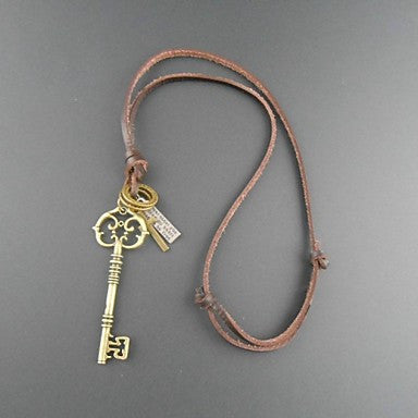 European Vintage Master Key Pandent Necklace(1pc)