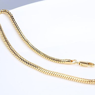 Thin 14K Gold Filled Herringbone Chain For Men's Necklace 3Mm,23.6 Inches (60Cm)