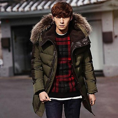 Men's Fur Collar Down Coat