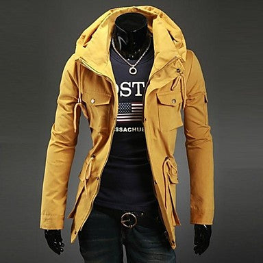 Men's Double Collar Winter New Casual Luxury Long Sleeved Jacket