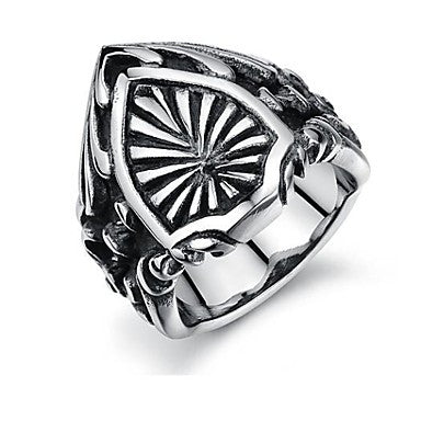 Novelty Silver Metal Men's Retro Punk Rock Eagle Fashion Ring
