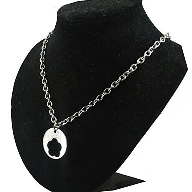 Fashion Men's Silver Titanium Steel Thick Chain Cable PendantNecklace