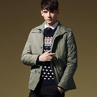 Men's Stand Slim Thickened Casual Coat