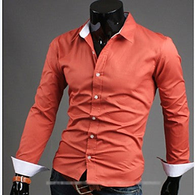 Men's Simple Candy Color Casual Shirts