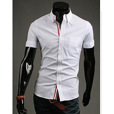 Men's Casual Pure Color Short Sleeve Shirt