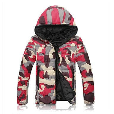 Men's Fashion Camouflage Cotton Padded Clothes Hood Outerwear