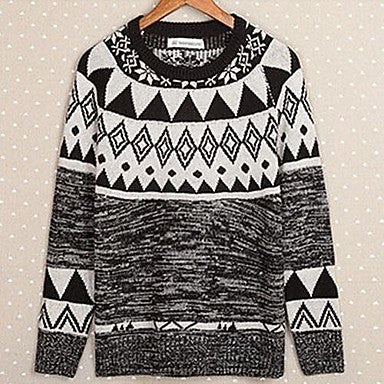 Men's The New Japanese Folk Style Sweater Round Neck Sweater