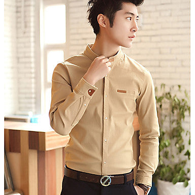 Men's Nicely Stand Collar Slim Shirt