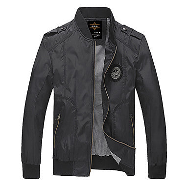 Men's Casual Flying Eagle Logo Jacket