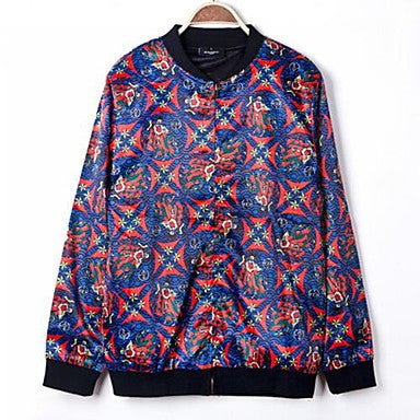 Men's American StyleNational Digital Printing Casual Long Sleeve Jackets