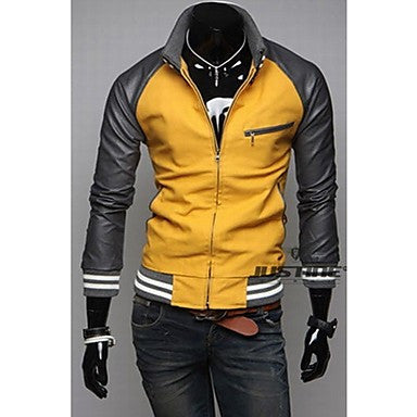 Men's Stitching Casual Slim Coat