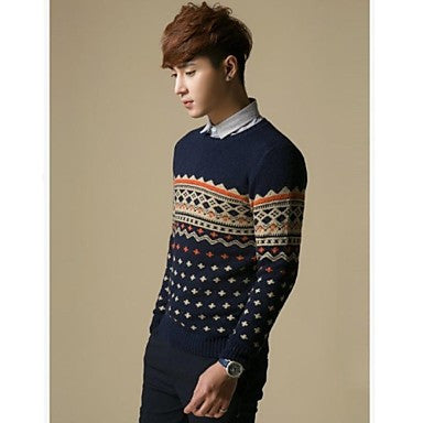 Men's Round Collar Knitwear