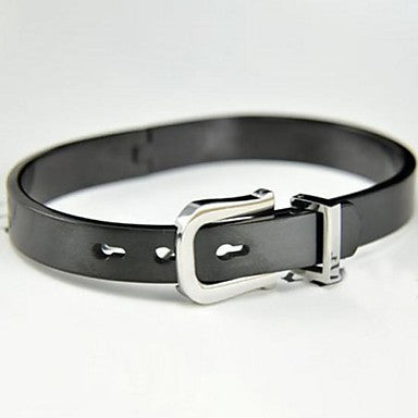 Men's Fashion Personality Cool Black Titanium Steel Belt Bracelets