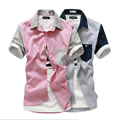Men's Colorblock Slim Shirt