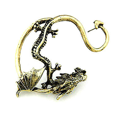 Vintage Metal Plated Cool Dragon Alloy Earring(1 Pack Assorted Colors)