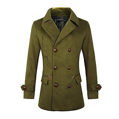 Men's Double-breasted Trend Wool Coat
