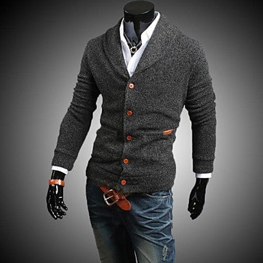 Men's V Neck Sweater Jacket