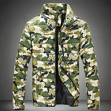 Men's Camouflage Printed Cotton Coat