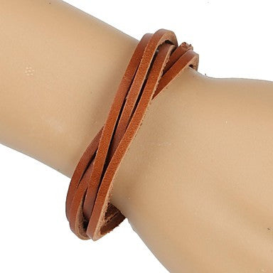 Fashion Braided Bracelet Simple and Comfortable Brown (1 Piece)