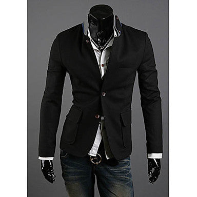 Men's Fashion Unique Collar Design Casual Suit