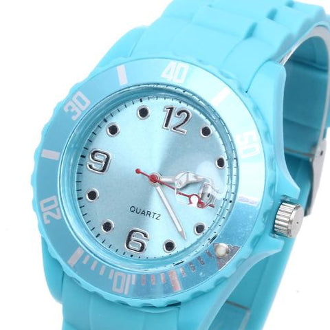 Unisex Wristwatch Wrist Watch Quartz Movement Silicone Band Round Dial Fashion